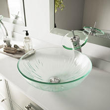 VIGO Icicles Glass Vessel Bathroom Sink