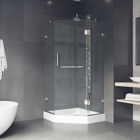 Vigo Piedmont Frameless Neo-angle Shower Enclosure with Base