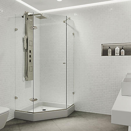 Vigo Verona Frameless Neo-angle Shower Enclosure with Base