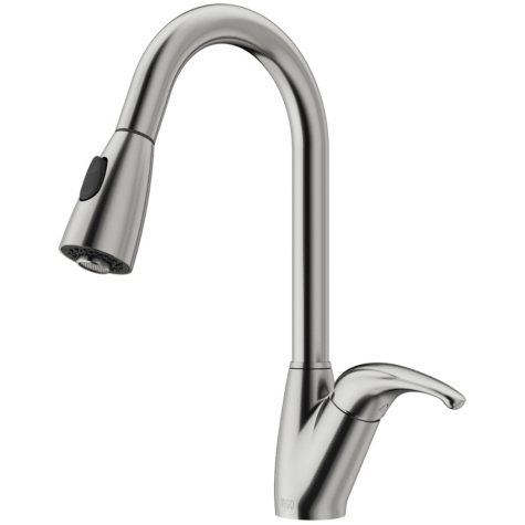 VIGO Stainless Steel Pull-Down Spray Kitchen Faucet