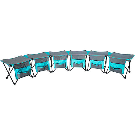 Creative Outdoor 6-Person Curved Folding Bench