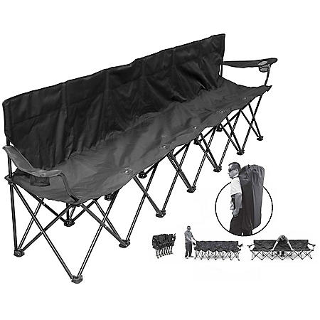 Creative Outdoor 6-Person Straight Folding Bench with Backpack Carry Bag