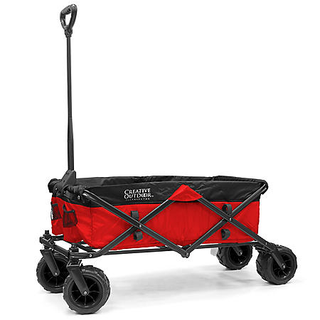 Creative Outdoor All-Terrain Folding Sport Compact Wagon (2-Tone Various Colors)