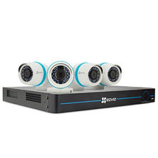 EZVIZ 8-Channel 1080p HD IP NVR Security System with 2 TB Hard Drive, 4 1080p IP Bullet Cameras, and 100' Night Vision