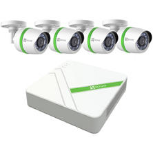 EZVIZ 4-Channel 1080p HD Security System with 1TB HDD, 4x 1080p Weatherproof Bullet Cameras, 100' Night Vision