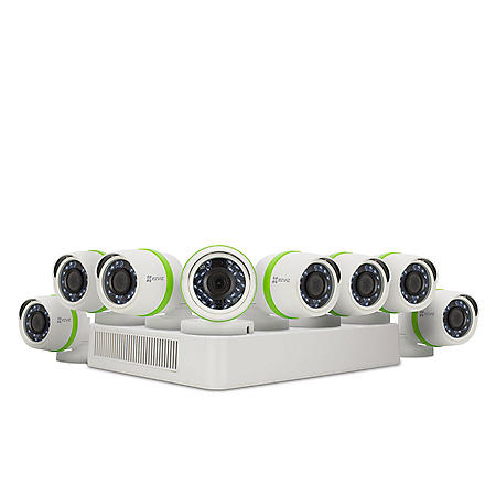 Ezviz 8-Channel Surveillance System with 1080p DVR, 2TB Hard Drive and H.264 Video Storage Compression, 8-Weather Resistant Bullet Cameras with 1080p Recording Resolution and 100' Night Vision