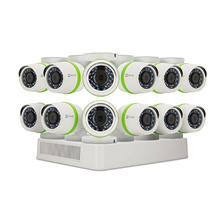 EZVIZ 16-Channel Surveillance System with 1080p DVR, 2TB Hard Drive and H.264 Video Storage Compression, 12x Weather Resistant Bullet Cameras with 1080p Recording Resolution and 100ft Night Vision