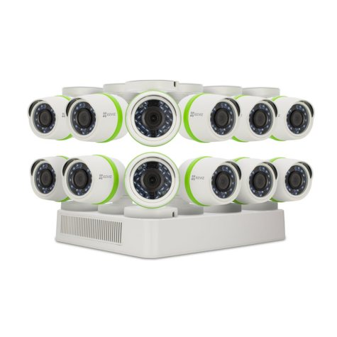 EZVIZ 16-Channel 1080p Surveillance System with 2TB Hard Drive, 12-Cameras 1080p Indoor/Outdoor Cameras