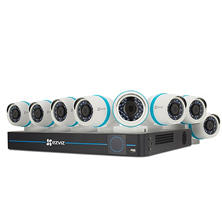 EZVIZ 16-Channel 4MP HD IP NVR Security System with 3TB HDD, 8 4MP IP PoE Cameras and 100' Night Vision