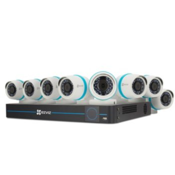 Ezviz 16-Channel Surveillance System w/4MP IP NVR 3TB Hard Drive