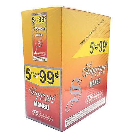 Supreme Mango Cigars, Pre-priced 5 for $0.99 (5 pk., 15 ct.)