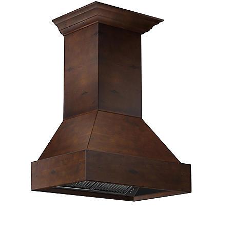 ZLINE 36 in. 1200 CFM Designer Series Wooden Wall-Mount Range Hood