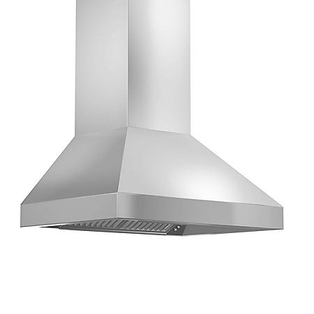 "ZLINE 30"" 900 CFM Remote Blower Wall Mount Range Hood in Stainless Steel (597-RS-30)"