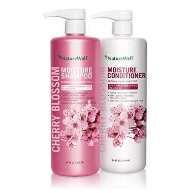 Nature Well Cherry Blossom Moisture Shampoo & Conditioner (24 fl. oz, 2 pk.)