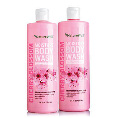 Nature Well Body Wash, Cherry Blossom (24 fl. oz., 2 pk.)