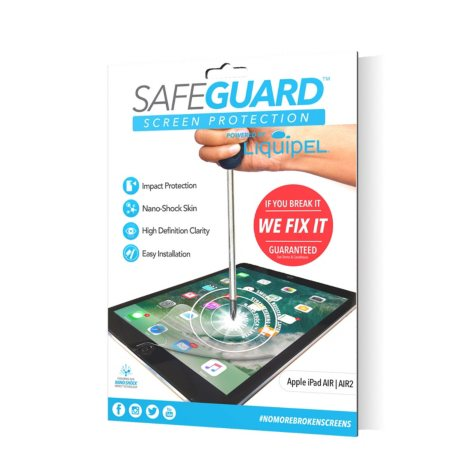 Liquipel Safeguard Protection Bundle for Apple iPad Air 1 & 2, iPad Pro 9.7