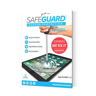 Liquipel Safeguard Protection Bundle for Apple iPad Mini 1, 2 & 3