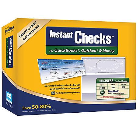 Instant Checks: Business Voucher - Blue 500 pk.