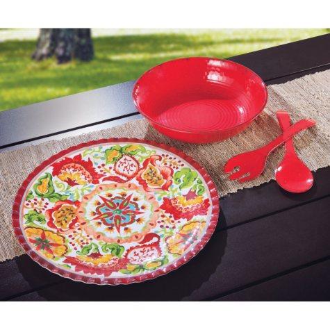 Melamine Serveware Set - Various Colors