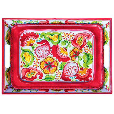 Melamine 3 Piece Serving Tray Set - Various Colors