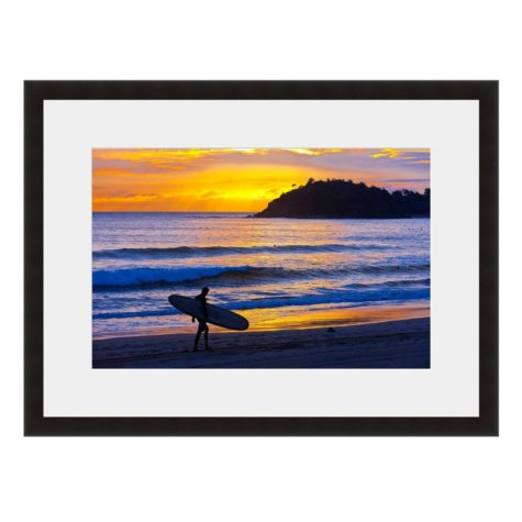 Framed Fine Art Photography - Sunset Surfer By Blaine Harrington