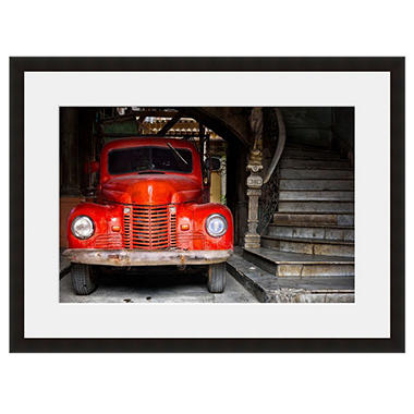 Framed Fine Art Photography - Vintage Red Truck by Vincent Versace