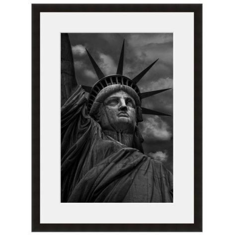 Framed Fine Art Photography - Lady Liberty in Black And White by Vincent Versace