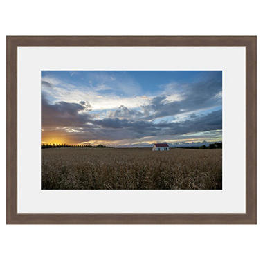 Framed Fine Art Photography - Wheat Field Under Big Sky By Andy Katz