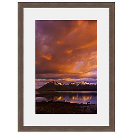 Framed Fine Art Photography - Mirror Lake Mountain Sunset By Blaine Harrington