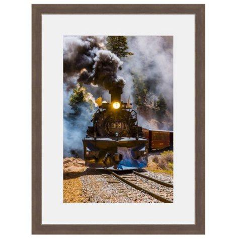 Framed Fine Art Photography - Steam Train A-Comin' By Blaine Harrington