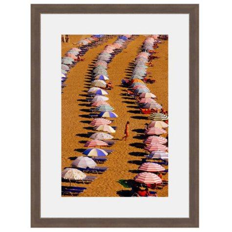 Framed Fine Art Photography - Beach Umbrella Mosaic By Blaine Harrington