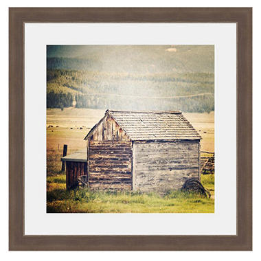 framed fine art photography old weathered barn by keren lynn