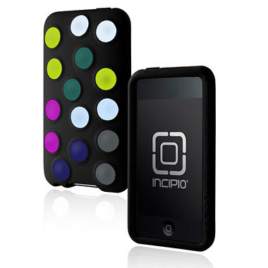Incipio iPod touch 2G dotties Silicone Case- Black