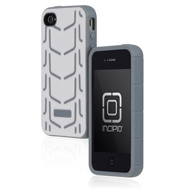 Incipio iPhone 4/4S Invert Rigid Soft Shell Case - White/Gray