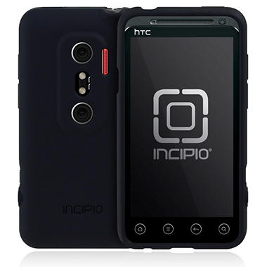 Incipio HTC EVO 3D NGP Semi-Rigid Soft Shell Case - Black