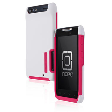 Incipio Motorola DROID RAZR SILICRYLIC Hard Shell Case with Silicone Core - White/Pink