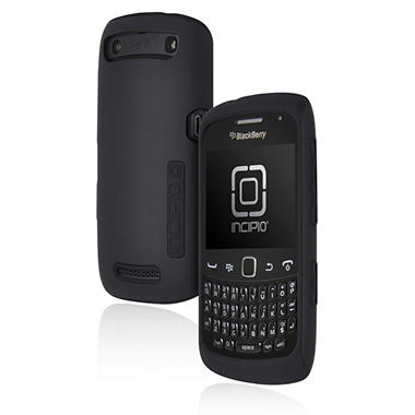Incipio BlackBerry Curve Silicrylic Hard Shell Case - Black/Black