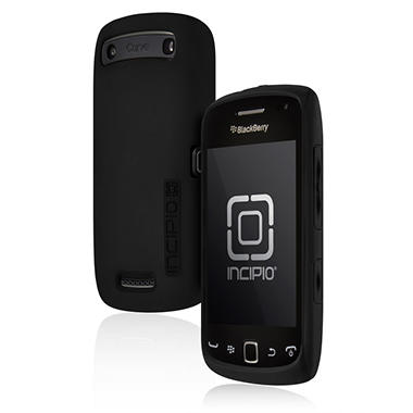 Incipio BlackBerry Curve 9380 SILICRYLIC Hard Shell Case with Silicone Core - Black/Black