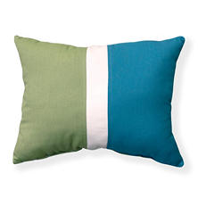 "16"" x 20"" Color Block Pillow, Sunbrella Fabric"