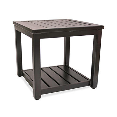 Square Aluminum Outdoor Side Table