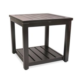 Outdoor benches patio gliders sams club square aluminum outdoor side table watchthetrailerfo