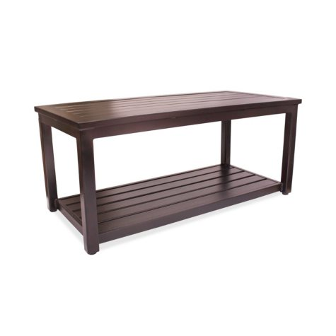 "Outdoor Aluminum Coffee Table, 20"" x 42"""