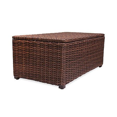"Outdoor Wicker Storage Box, 24"" x 44"""