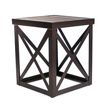 "Outdoor Aluminum Side Table, 18"" x 16"""