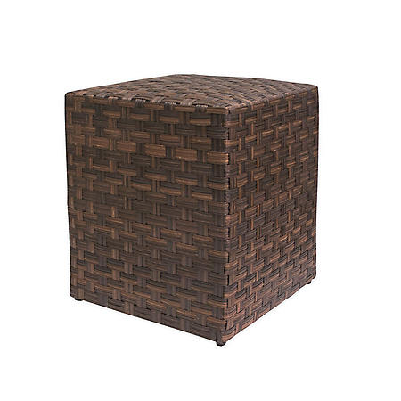 Outdoor Woven Side Table,16""