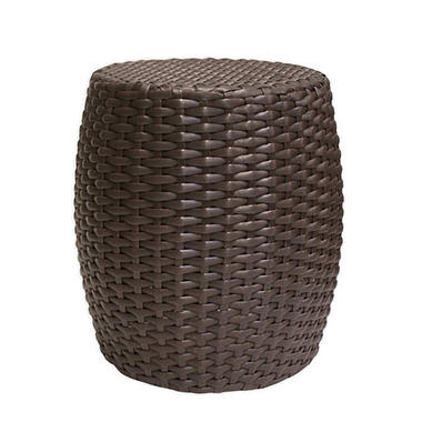 Outdoor Wicker Drum Table