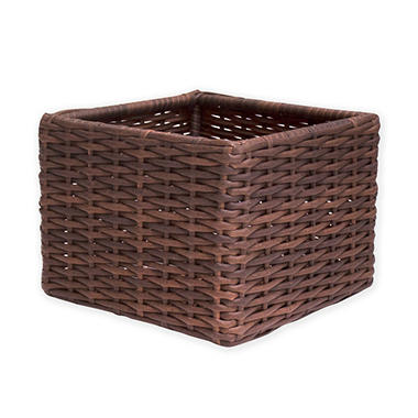 Outdoor Wicker Storage Basket, 14