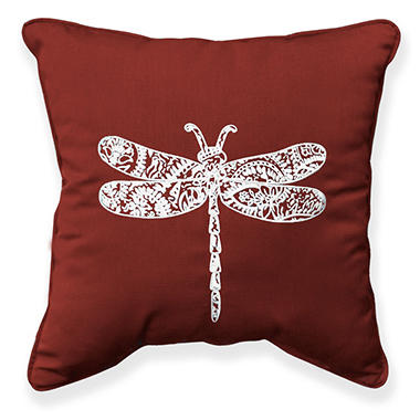 17 Outdoor Toss Pillow Sunbrella Canvas Henna Fabric With