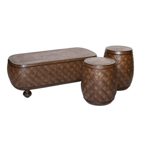 Cast Stone Table - Set of 3