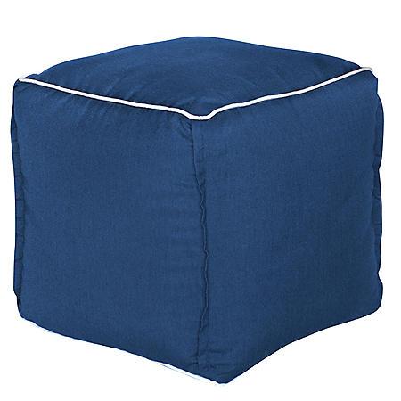 Outdoor Pouf - Sunbrella Spectrum Indigo Fabric